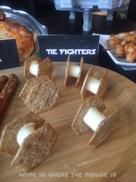 Star Wars Cheese and Cracker TIE Fighters