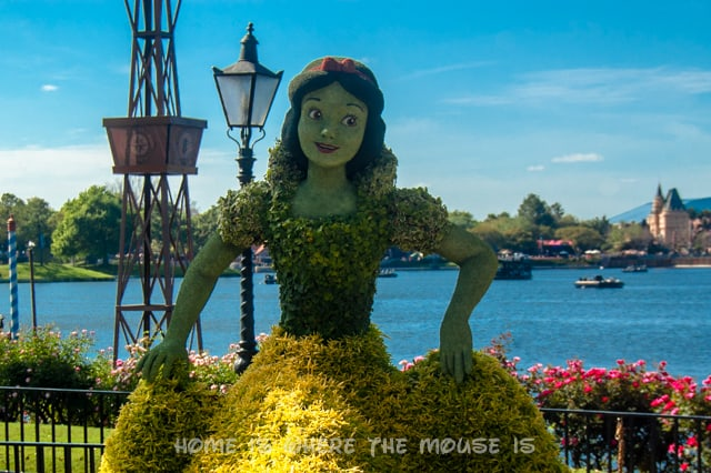 Nearly every Epcot landscape has a topiary for the Flower & Garden Festival