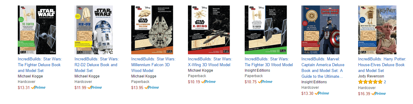IncrediBuilds Models on Amazon